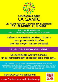 Croisade pour la santé - 13-27 juillet 2019