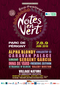 Eco-Festival Notes en vert - 7-9 juin 2019 - Périgny