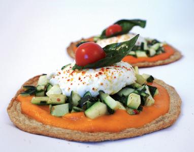 Pizzetta au coulis de poivron