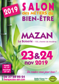 Salon des métiers du bien-être - Mazan - 23-24 novembre 2019