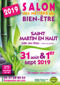 Salon des métiers du bien-être - Saint-Martin-en-Haut - 31 août-1 septembre 2019