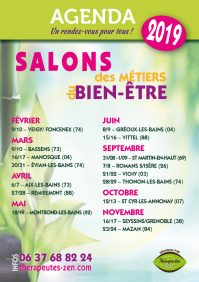 Salon des métiers du bien-être - Agenda 2019