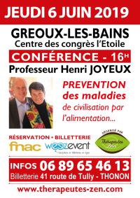 Conférence Pr Joyeux - Gréoux-les-Bains - 6 juin 2019