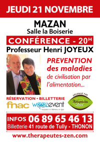 Conférence Pr Joyeux - Mazan - 21 novembre 2019