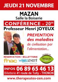 Conférence Pr Joyeux - Mazan - 21 novembre 2019