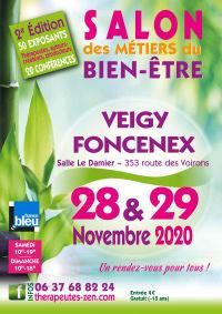 Salon des métiers du Bien-Être les 28 et 29 novembre 2020 à VEIGY-FONCENEX (74)