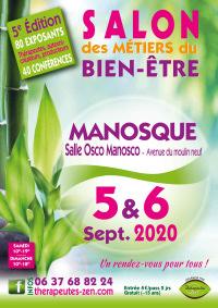 Salon des métiers du Bien-Être les 5 et 6 septembre 2020 à MANOSQUE (04)