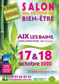Salon des métiers du Bien-Être les 17 et 18 octobre 2020 à AIX-LES-BAINS (73)