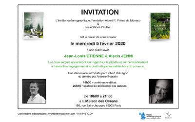 Conférence gratuite sur l'environnement le 5 février à Paris