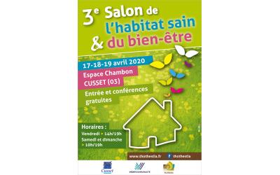 Salon de l'habitat sain et du bien-être du 17 au 19 avril 2020 à Cusset (03)