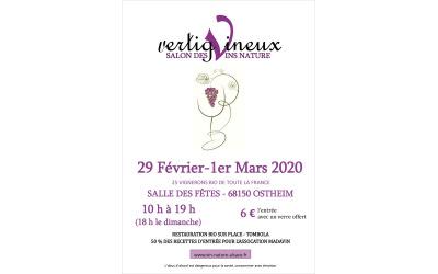 Salon vertigVineux les 29 février et 1er mars 2020 à Ostheim (68)
