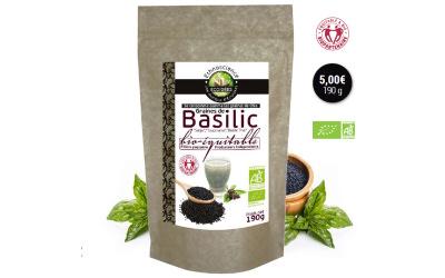 Lancement : les graines de basilic ÉCOIDÉES, les nouvelles graines de chia