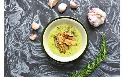 Soupe à l'ail et aux shiitakés par Amandine Geers et Olivier Degorce