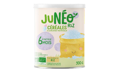 JUNÉO lance JUNÉO RIZ, recette sans protéine animale pour les bébés
