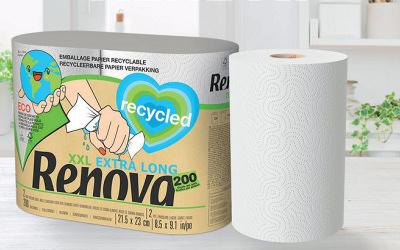La première gamme de produits d'hygiène 100% recyclés dedans et dehors : Renova