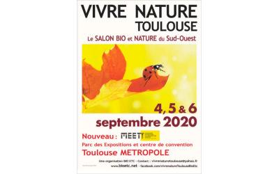 Rendez-vous du 4 au 6 septembre 2020 à Toulouse au salon Vivre Nature !