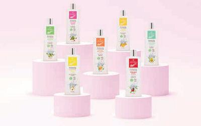 1ère gamme de shampooings bio traitants à l'eau thermale