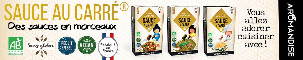 Sauces au carré Aromandise