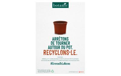 Botanic® lance la 1ère filière de recyclage et de valorisation des pots plastiques !