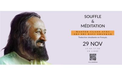 Masterclass exclusif avec Sri Sri Ravi Shankar dimanche 29 Nov 2020