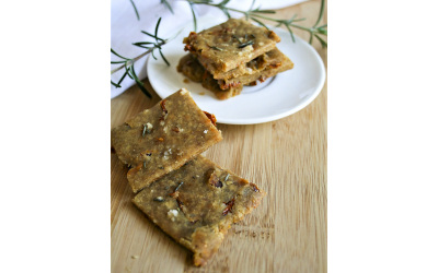 Crackers aux tomates séchées par Marie Lossy