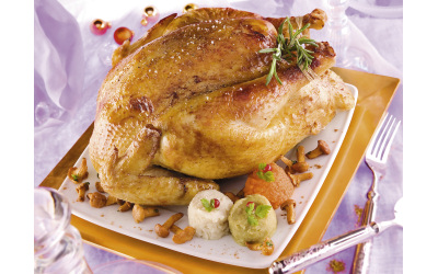 Poularde bio Le Picoreur® farcie aux pain d'épices