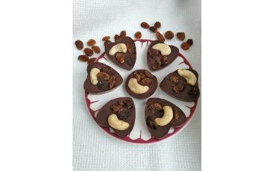 Mendiants au chocolat noir par Aurélie Toulis