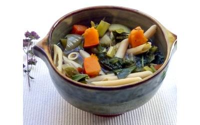 Soupe de légumes aux penne par Christine Calvet