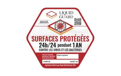 Débarrasser toutes les surfaces du SARS-COV 2 pendant 1 an : la prouesse Liquid Guard