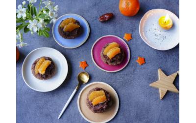 Tartelettes crues mandarines par Sarah Meyer