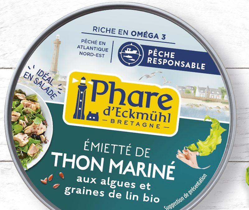Thon mariné aux algues et graines de lin bio