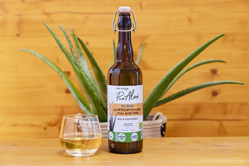 Pur'Biotic, le premier jus d'aloé vera pétillant signé Pur'Aloé !