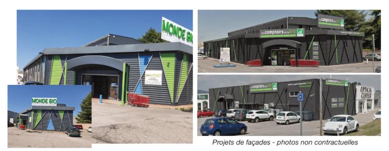 Les Comptoirs de la Bio rachètent les 2 magasins «Monde Bio» de Davezieux (07) et Salaise-sur Sanne (38)